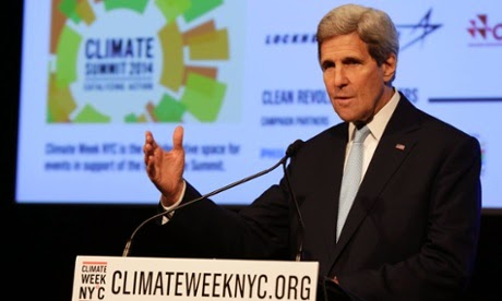 At Climate Week NYC Kerry said: Ҕhe United States is prepared to take the lead in order to bring other nations to the table.  (Credit: Richard Drew/AP)  Click to enlarge.