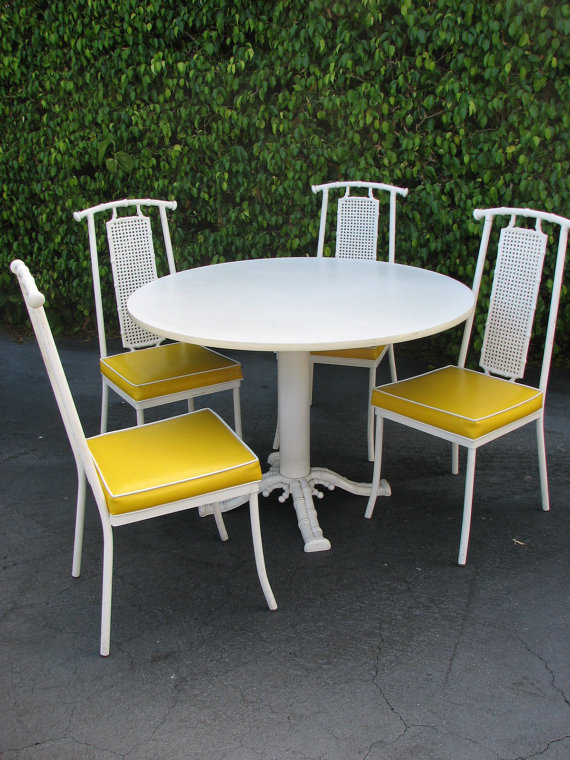 Faux Bamboo Patio Chairs High/Low