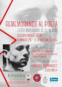"""Concierto homenaje  rememorando al poeta """" Miguel Hernández Sublime""""."""