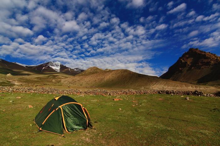 Camping in Stok Kangri, Ladakh, Himalayas