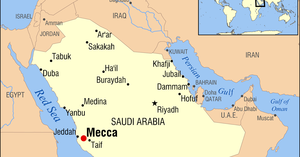 Mecca On Map