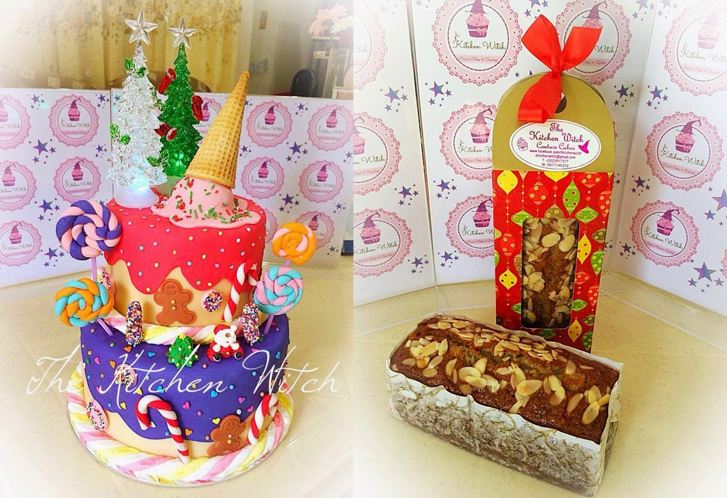christmas baked goodies cakes and cupcakes