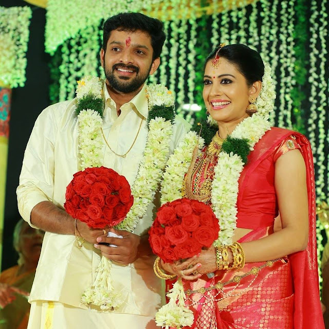 Actress Sshivada Nair married actor Murali Krishnan