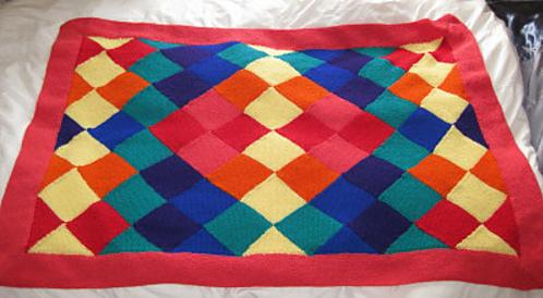 entrelac blanket, free knitting patterns