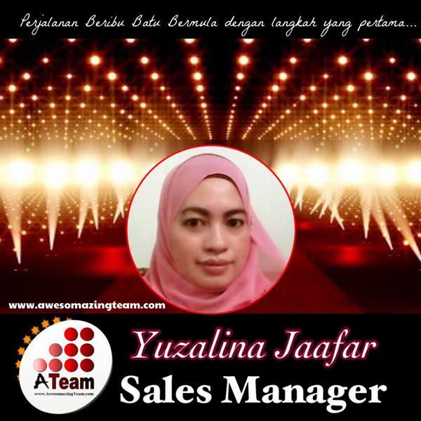 yuzaliza jaafar berjaya mendapat gelaran sales manager