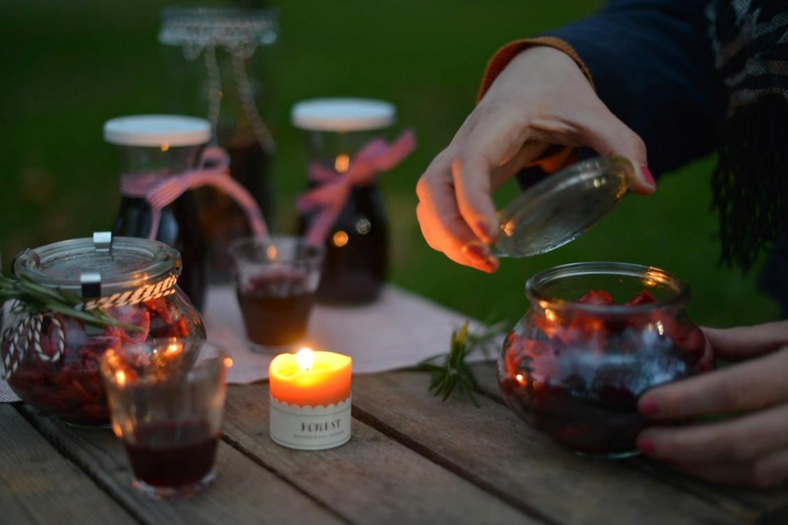 Picknick bei Kerzenschein