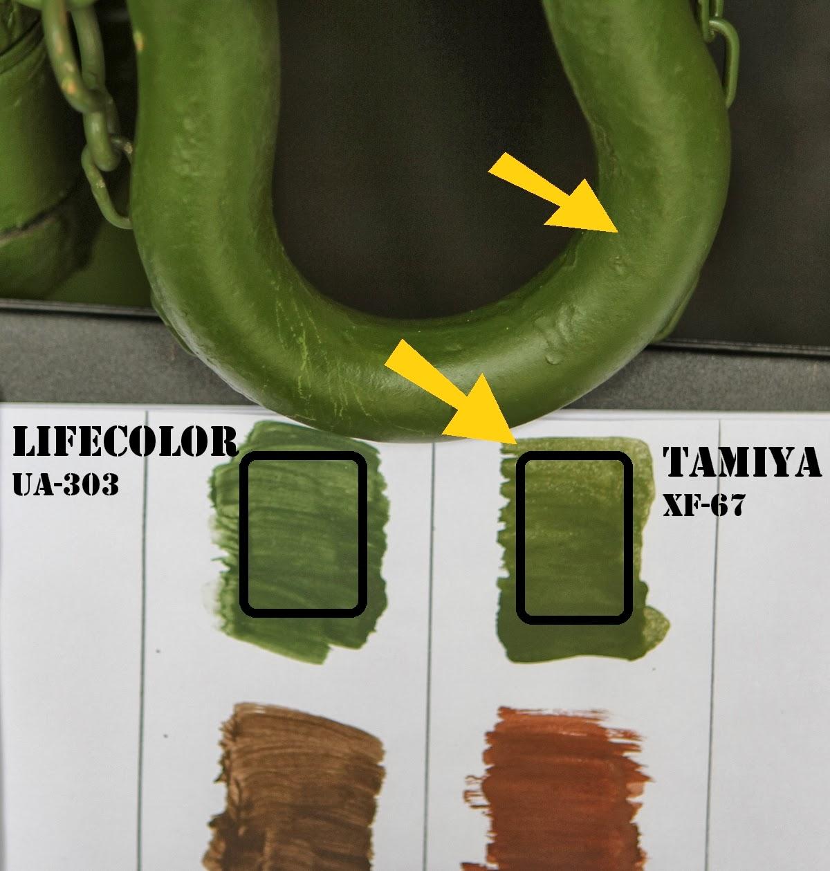 Vert otan : tamiya xf-67 est plus proche au niveau teinte de la vrai