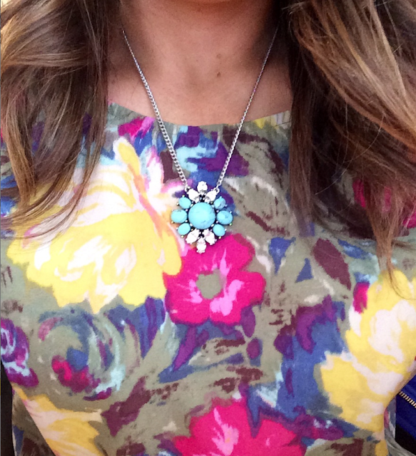 Capwell + Co Turquoise Flowerbomb Necklace