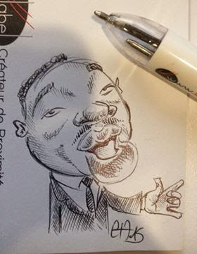 Croquis Martin Luther King ©Guillaume Néel