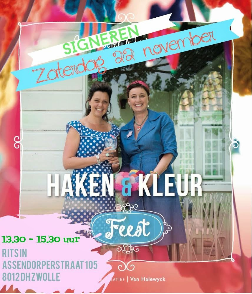 Haken&Kleur Feest signeren!