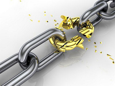 broken SEO link chain