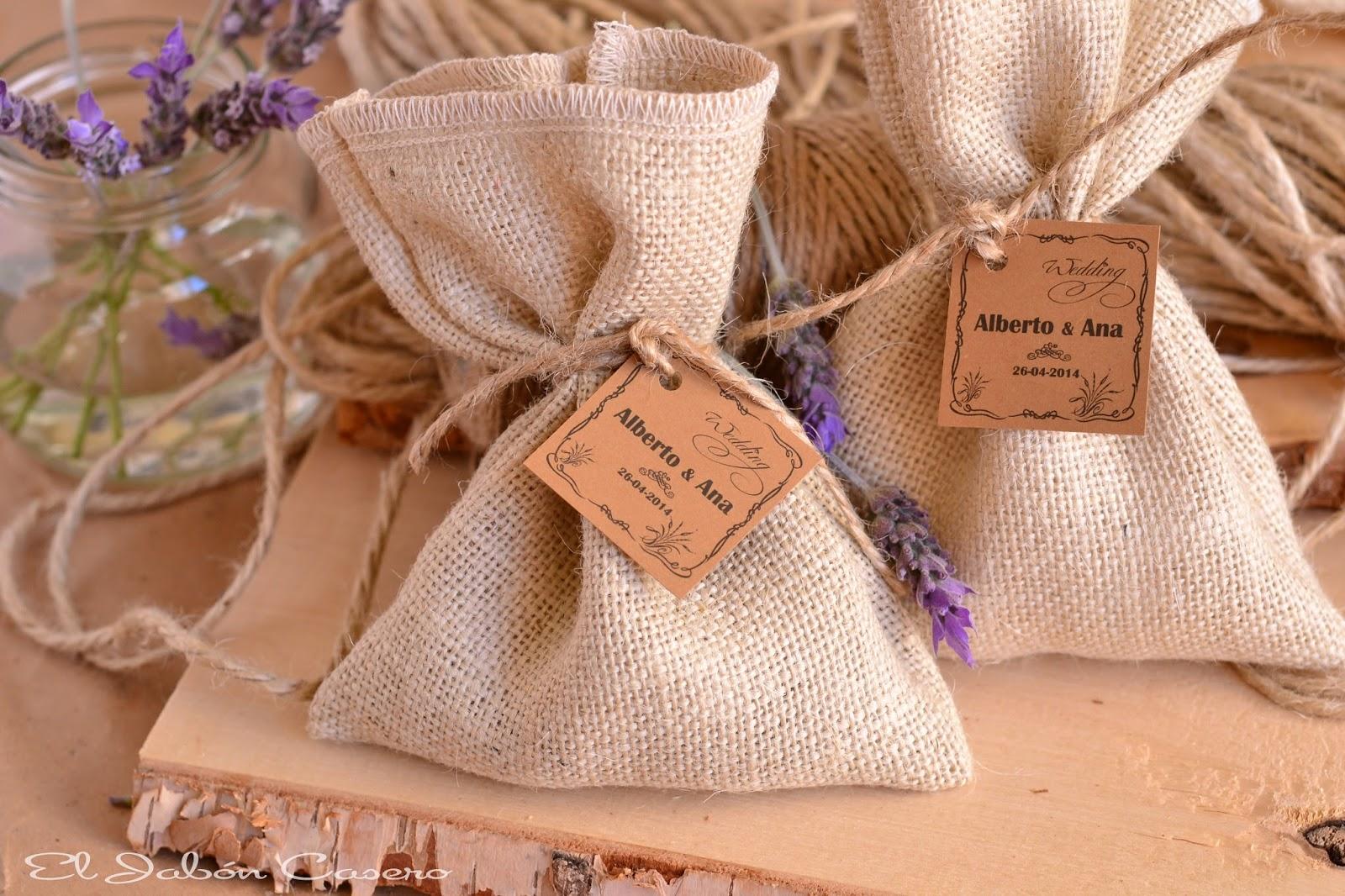 Bolsitas aromaticas para detalles de boda