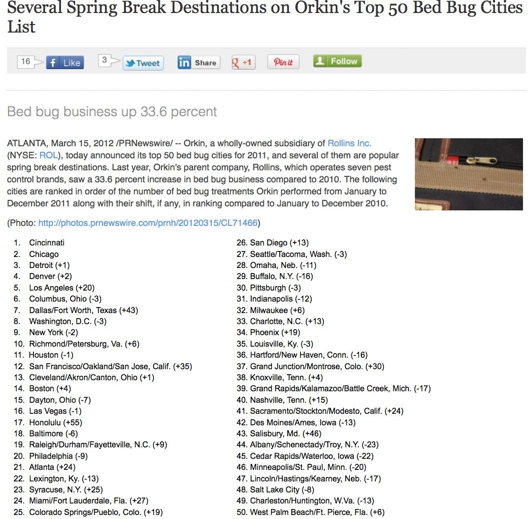 Orkin Bed Bug Preparation Checklist