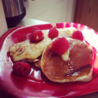 raspberry pancakes on katy's kitchen