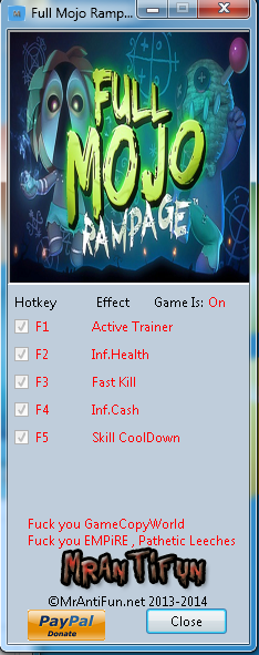 Full Mojo Rampage V1.00 Trainer +4 MrAntiFun
