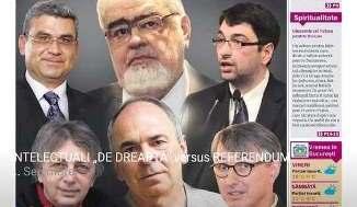 "INTELECTUALI ""DE DREAPTA"" versus REFERENDUM"