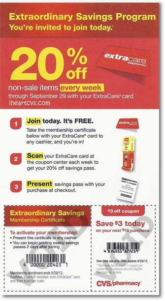 CVS Extraordinary Savings Program