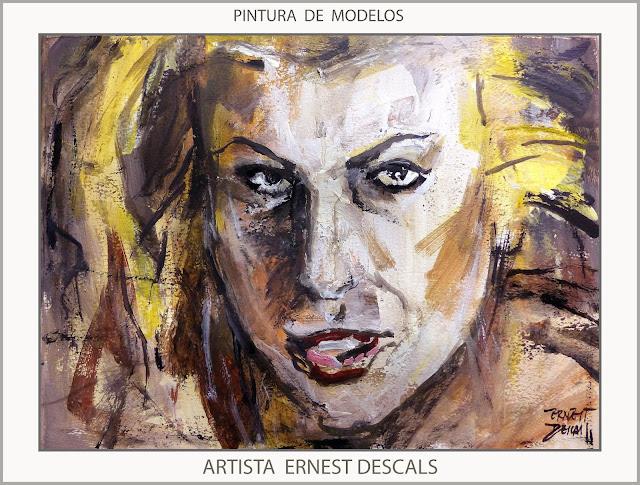 PINTURA-MODELOS-MUJERES-RUBIAS-PINTURAS-MUJER-EXPRESIONES-ARTISTA-PINTOR-ERNEST DESCALS-