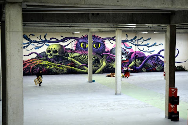 Street Art Collaboration By Jeff Soto And Maxx242 For Goodbye Monopol 2 In Luxembourg City. 3