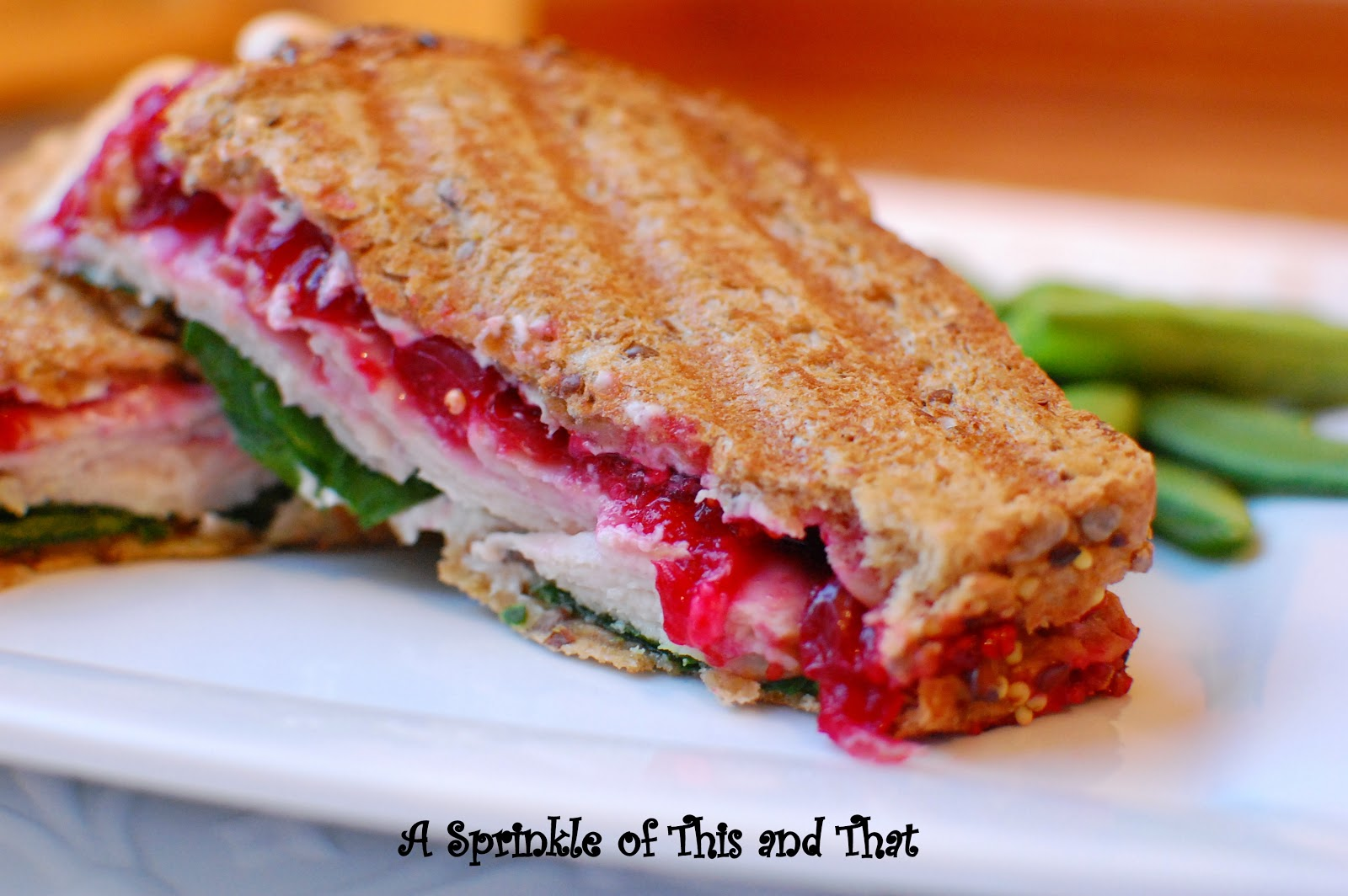 Turkey Cranberry Panini with Herb Cheese Spread | BlogHer