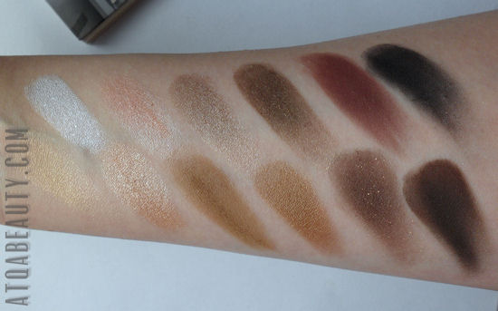 theBalm Nude'tude Eyeshadow Palette - swatches