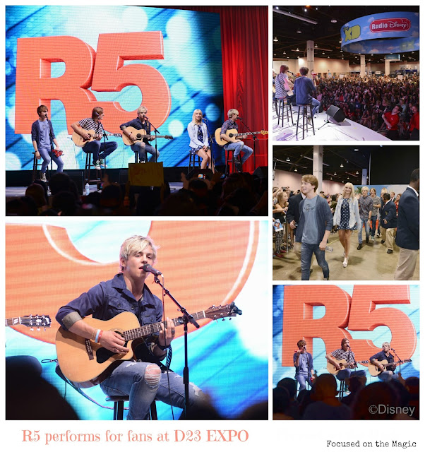 Ross Lynch performed with his band R5 for fans attending D23 EXPO at the Anaheim Convention Center.