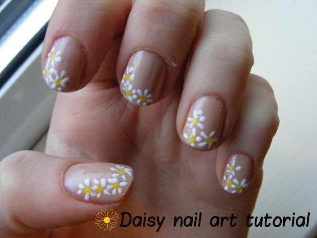 daisy nail art tutorial hey
