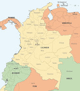 Colombia is located to the west of Venezuela, the north of Ecuador, . (colombia map)