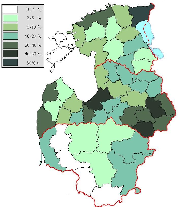 Russianlanguage Minorities In Latvia And Estonia An Alternative - Russian language map