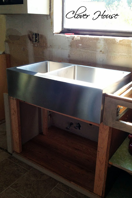 Clover House Installing A Farmhouse Sink