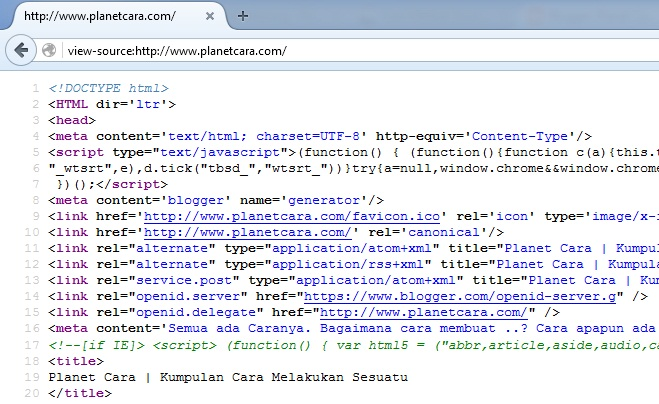 contoh source code
