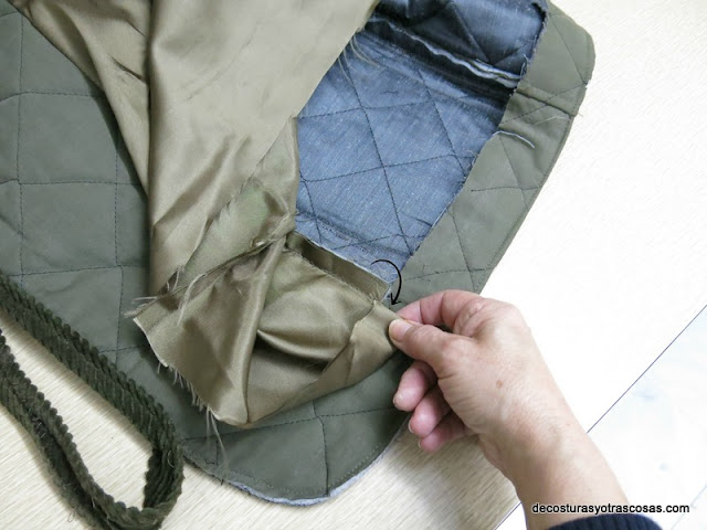 como rematar el forro en una chaqueta o abrigo