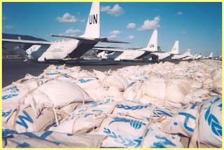 Reparto de alimentos del Programa Mundial de Alimentos