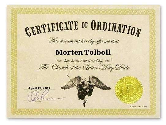 I´m an ordained Dudeist Priest!