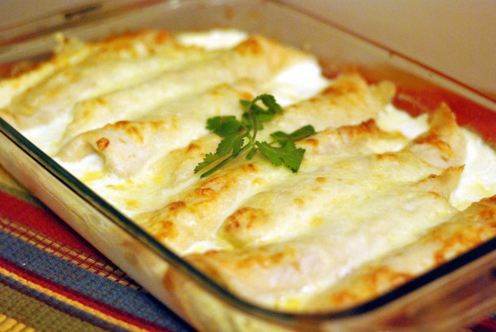 Caramelized Onion & Cream Cheese Chicken Enchiladas ( Adapted Recipe ...