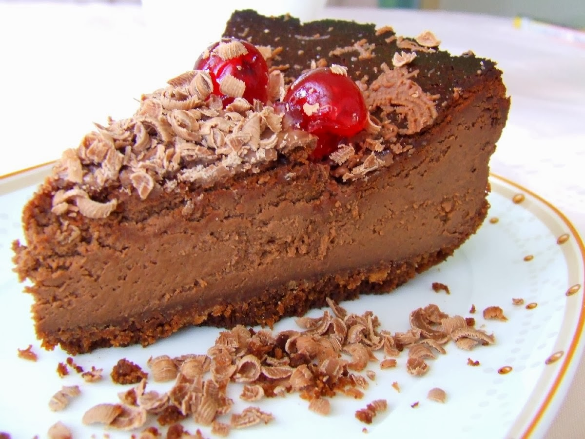 pieczony sernik czekoladowy
