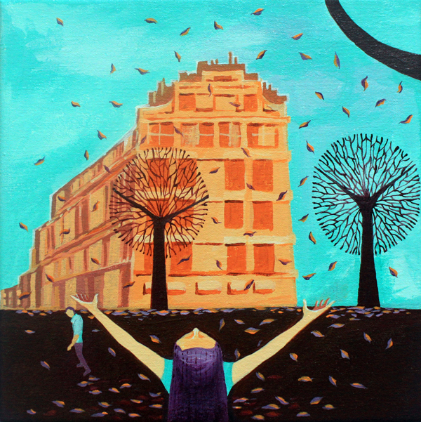 Jayesh Sivan - Illustrations: Cafe Mural Illustration
