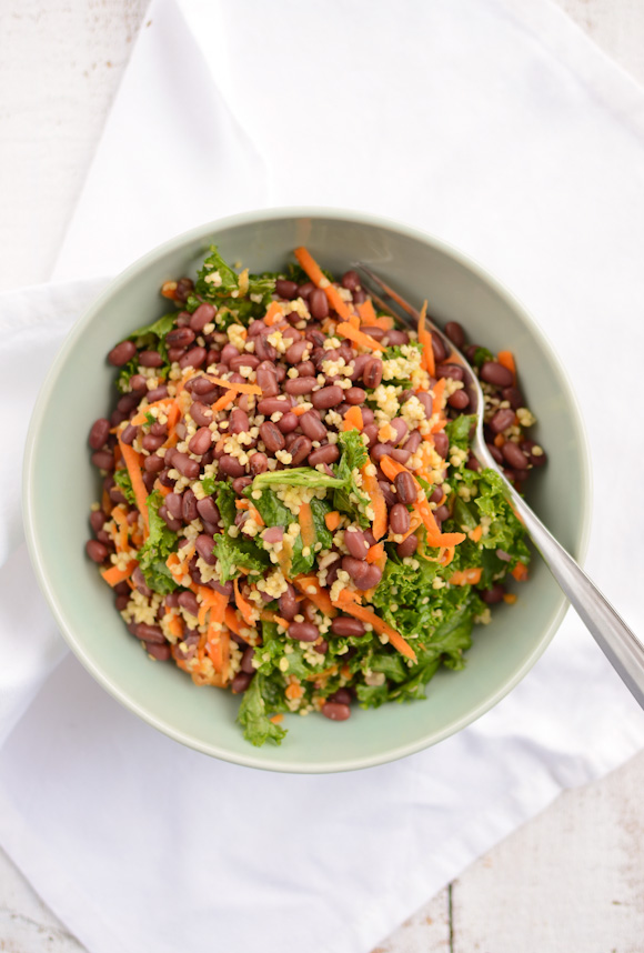 Adzuki Beans with Millet and Kale