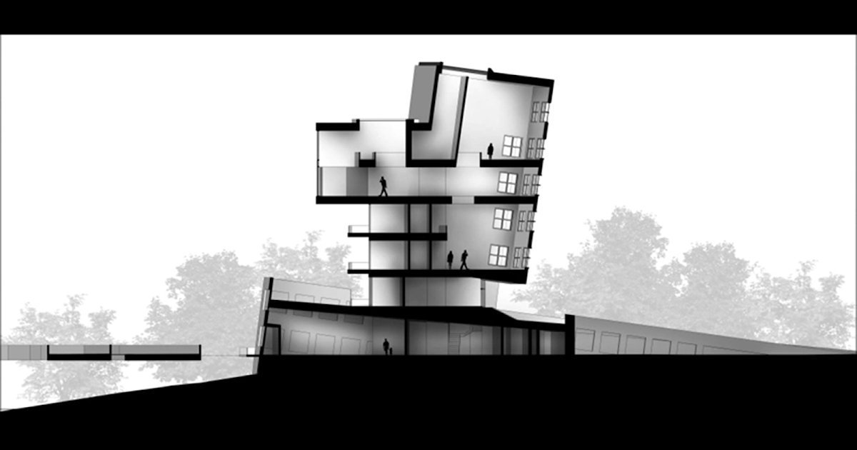 The architectural student section rendering sketchup and for Architectural design with sketchup