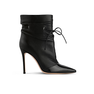 Gianvito Rossi black lace-up ankle boots