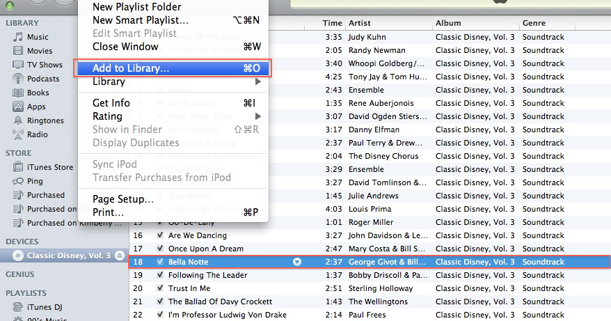 how to add songs into itunes