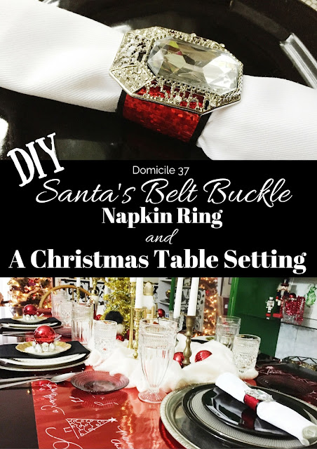 DIY tutorial on how to create a napkin ring out of wash tape and how to use Scotch's double sided sticky tape for your holiday table