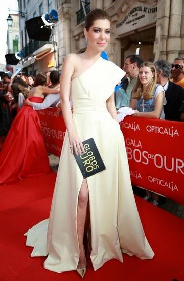 Raquel Strada vestido Luis de Carvalho  - XX GALA DOS GLOBOS DE OURO 2015