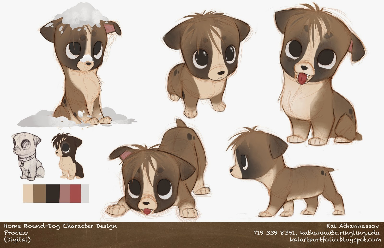 Visual Development Dog Character Design