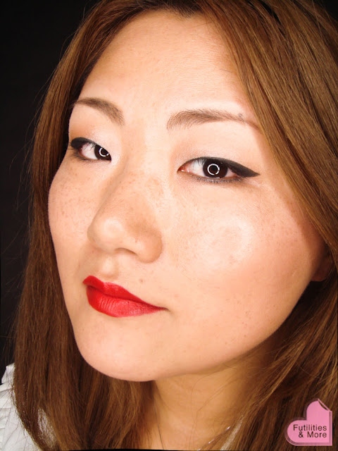 Winged Eyeliner And Red Lips, asian eyes, asian monolid, makeup tutorial, makeup reviews, product reviews, cosmetics, make up, makeup, maquillage, tuto, yeux, asiatique, futilitiesandmore.blogspot.com, futilities and more, futilitiesandmore