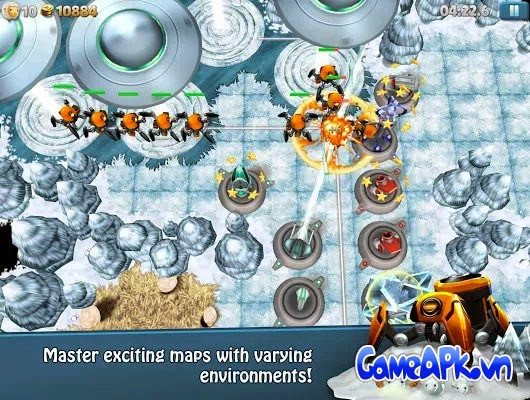 TowerMadness 2: 3D TD v1.3.3 hack full tiền cho Android