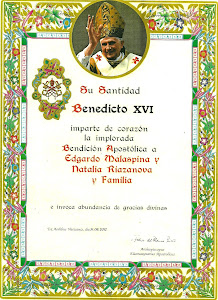 BENDICIÓN PAPAL.