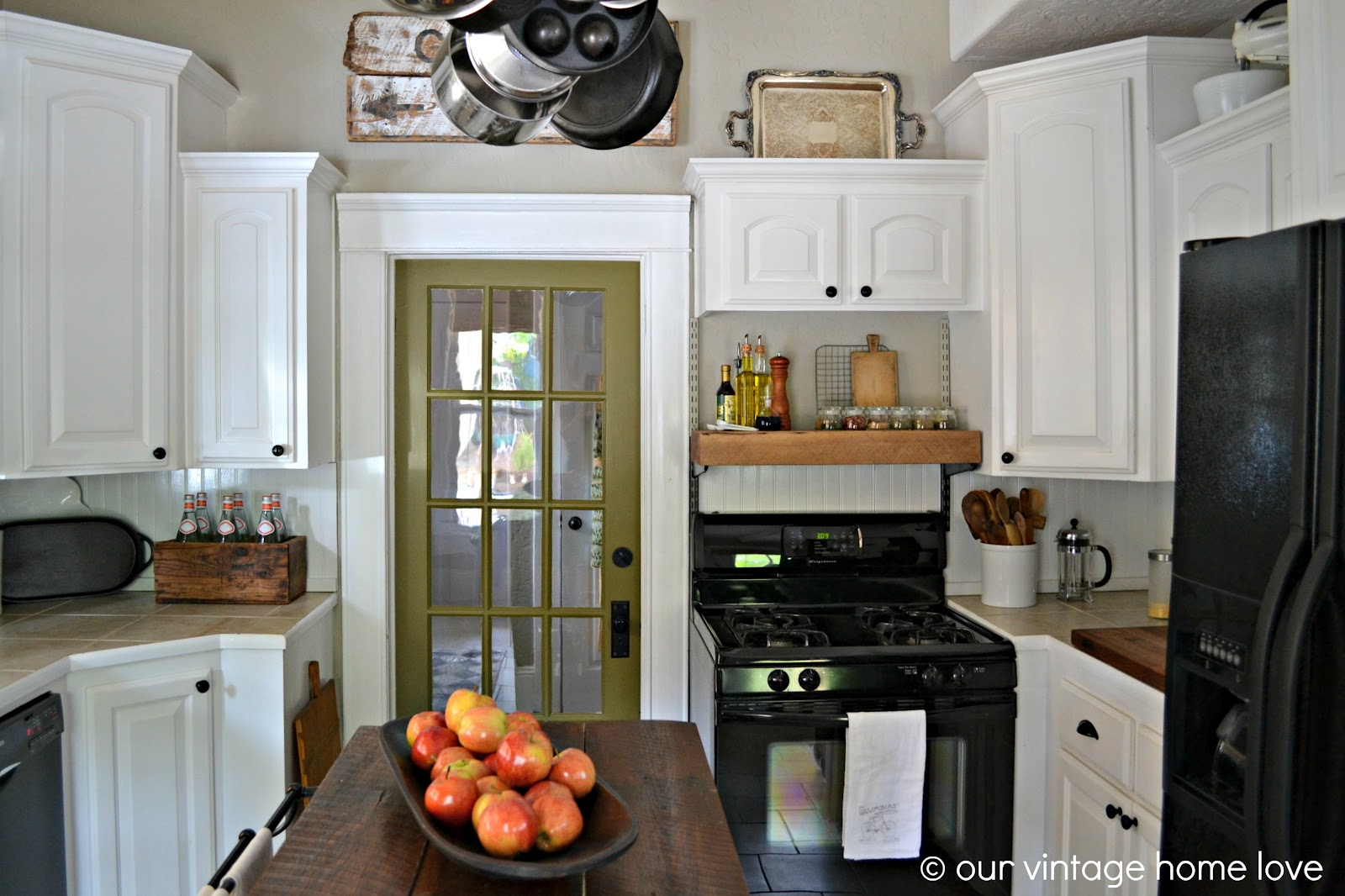 Olive Green Painted Kitchen Cabinets Hold my olive oils and my