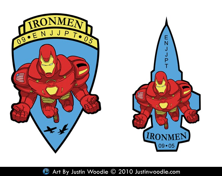 Ironmen Air Force Squadron Patch Designs By Justin Woodie