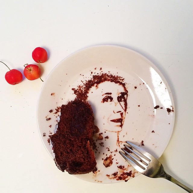 09-Chocolate-Cake-Portrait-Bernulia-Doodle-Drawings-and-Paintings-with-Food-Art-www-designstack-co